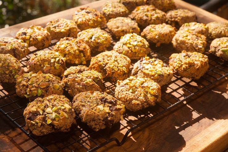 pistachio cookie skopkas